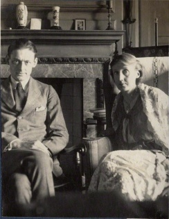T S Eliot and Virginia Woolf by Lady Ottoline Morrell June 1924